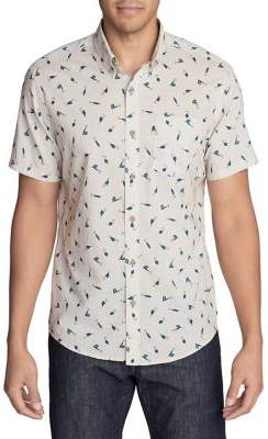 Eddie Bauer Baja Printed Short-Sleeve Shirt
