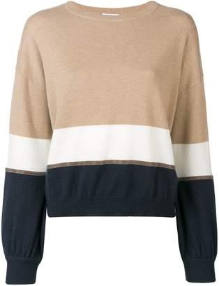 Brunello Cucinelli slouchy colour block sweater