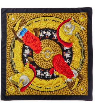 Hermes Casques Et Plumets, By Julia Abadie Silk Scarf