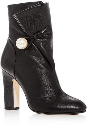 Jimmy Choo Women's Bethanie 85 Leather High-Heel Booties