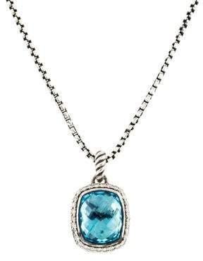 David Yurman Topaz & Diamond Albion Pendant Necklace