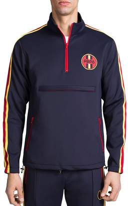PRPS Stripe-Trimmed Pullover Track Jacket