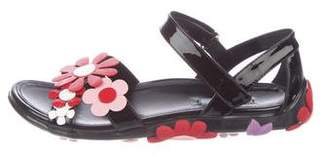 Prada Floral Patent Leather Sandals