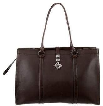 Gucci Leather Business Bag silver Leather Business Bag