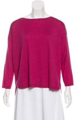 Akris Punto Long Sleeve Wool Top