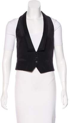 Rag & Bone Button-Up Silk Vest