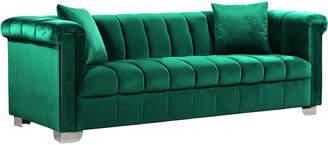 Verlaine Kayla Green Velvet Sofa