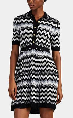 Missoni Women's Zigzag-Knit Wool Polo Dress - Black