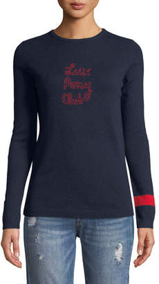 Bella Freud Lux Pony Club Graphic Cashmere Sweater