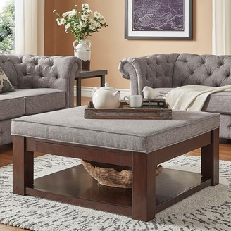 Homevance HomeVance Upholstered Storage Coffee Table