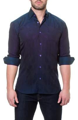 Maceoo Wall Street Peacock Slim Fit Sport Shirt