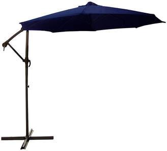 Asstd National Brand 10' Off-Set Outdoor Patio Umbrella with Hand Crank - Navy Blue