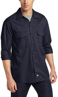 Dickies Mens Long Sleeve Work Shirt WL574BK LRG