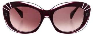 Alexander McQueen Oval Cat-Eye Sunglasses