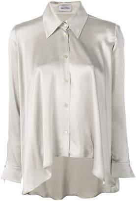 ede9a70a1c46e Balossa White Shirt asymmetric silk shirt