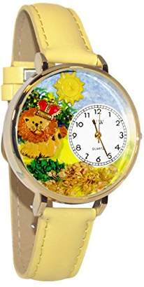 Whimsical Watches Unisex G1610006 Lion Yellow Leather Watch