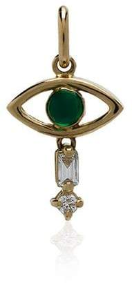 Ileana Makri Emerald Evil Eye Necklance