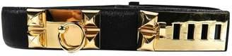 Hermes Collier de chien Black Polyester Belts