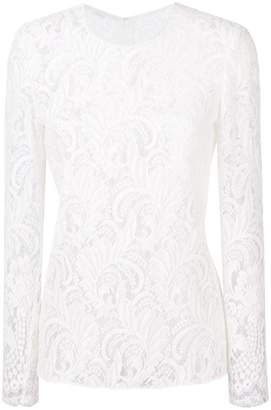 Stella McCartney long sleeve lace top