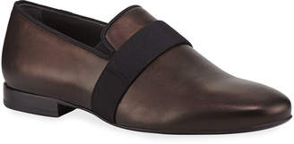 Lanvin Men's Satin Leather Slipper