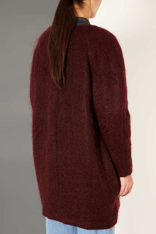 Topshop Mohair Oval Coat by Boutique