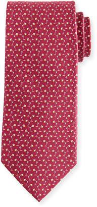 Salvatore Ferragamo Flash Desk Lamp Silk Tie, Red
