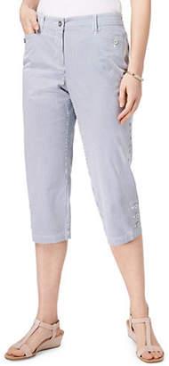 Karen Scott Corded Stripe Capri Pants