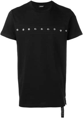 Diesel slim fit eyelet T-shirt