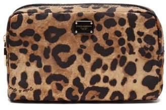 Dolce & Gabbana Leopard Print Cosmetics Case - Womens - Leopard