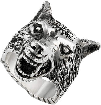 Gucci Anger Forest Wolf Head Ring