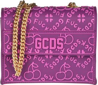 GCDS Logo All-over Shoulder Bag