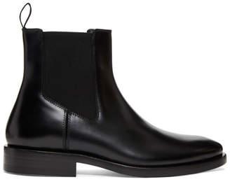 Balenciaga Black Semi-Gloss Chelsea Boots