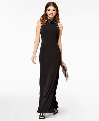 As U Wish Juniors' Embellished Column Gown