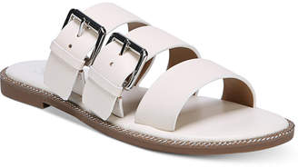 Franco Sarto Kasa Strappy Slip-On Flat Sandals Women's Shoes