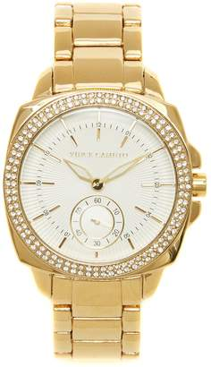 Vince Camuto Goldtone Crystal-bezel Watch