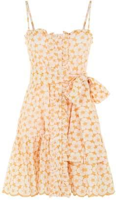 Lisa Marie Fernandez Ruffle Slip Mini Dress