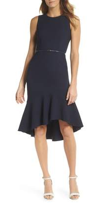 Adrianna Papell Structured Knit Trumpet Dress