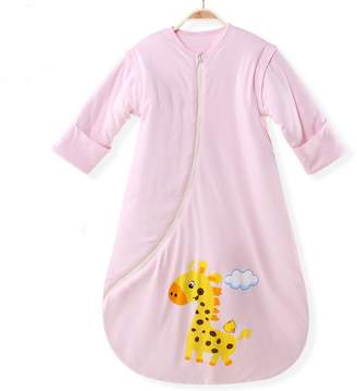 EsTong Unisex Baby Cotton Sleeper Gowns Wearable blankets Sleepbag Nightgowns White S Thick