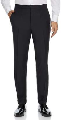 HUGO Textured Solid Slim Fit Tuxedo Pants