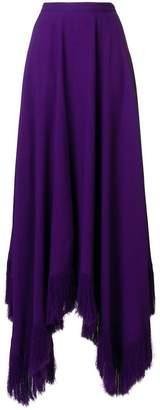 Nina Ricci asymmetric frayed-hem maxi skirt