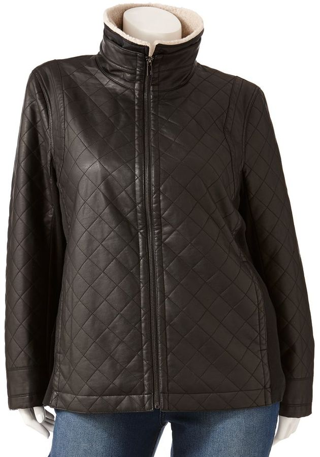 Apt. 9 quilted faux-leather jacket - women's plus