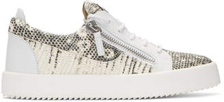 Giuseppe Zanotti Black and Off-White May London Sneakers