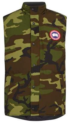 Canada Goose Garson Camouflage Quilted Down Gilet - Mens - Green Multi