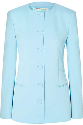 Off-White Crepe Blazer - Light blue