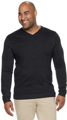 Apt. 9 Big & Tall Modern-Fit Wool-Blend Merino V-Neck Sweater
