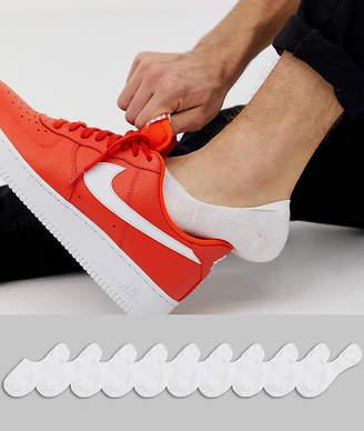 Asos Design DESIGN invisible socks in white 10 pack