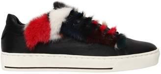 20mm Mink Fur & Leather Sneakers