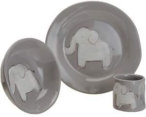 Alex Marshall Studios Elephant Character Dish Set-Gray