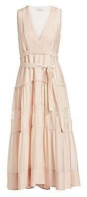 3.1 Phillip Lim Women's Lace & Silk Belted Midi Dress - Size 0