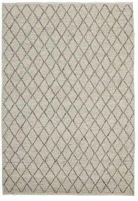 Scandinavian Network Finn Style Viscose and Wool Ivory and Natural Rug